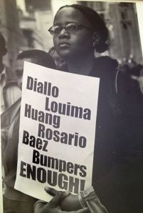 I recently came across this old photo taken by Frank Fournier at a 1999 demonstration in New York City after Amadou Diallo was murdered by New York City Police in a hail of bullets.