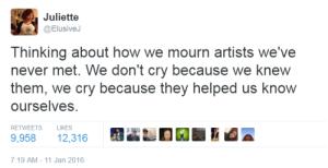 how we grieve artists