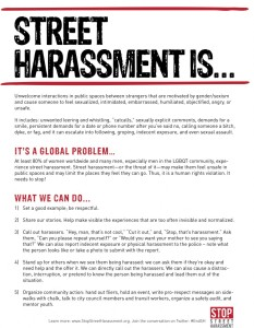 harassment flyer